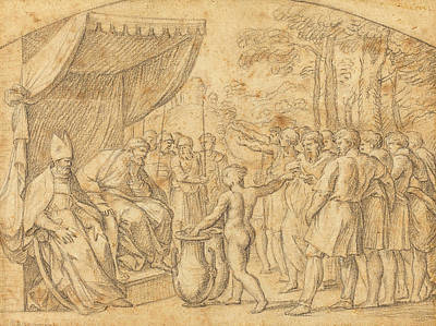Etienne Parrocel French, 1696 - 1775, The Drawing Of Lots Poster by Quint Lox