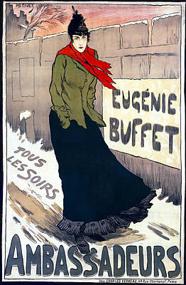 Eugenie Buffet Of Paris 1896 Poster by Daniel Hagerman