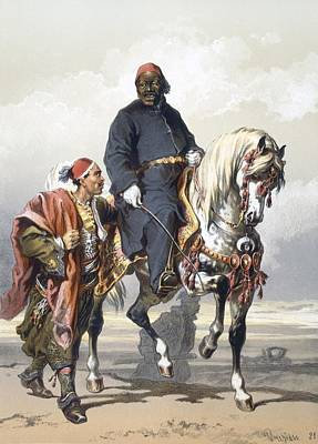 Eunuch Of The Seraglio On A Fine Arab Poster by Amadeo Preziosi
