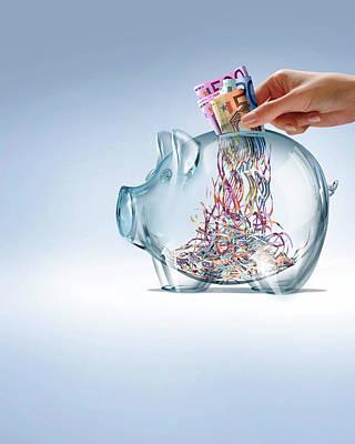 Euro Savings Crisis Poster by Smetek
