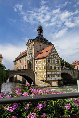 Europe, Germany, Bamberg, Altes Poster by Jim Engelbrecht