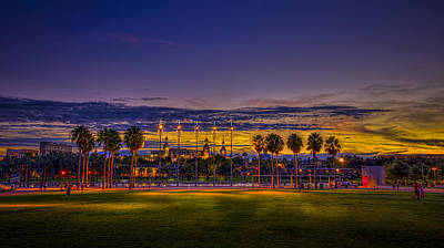 Evening At The Park Poster by Marvin Spates