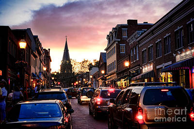 Evening In Annapolis Poster by Olivier Le Queinec