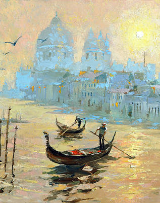 Evening In Venice Poster by Dmitry Spiros