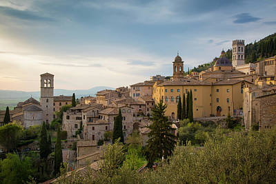 Evening View Over Assisi, Umbria, Italy Poster by Brian Jannsen
