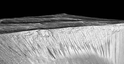 Evidence Of Water On Mars Poster by Nasa/jpl-caltech/univ. Of Arizona