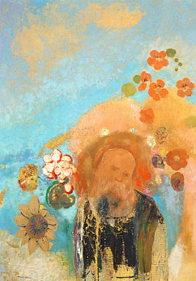 Evocation Of Roussel Poster by Odilon Redon