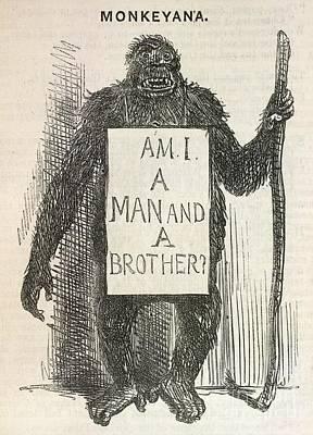 Evolution Satire 'monkeyana', 1861 Poster by British Library