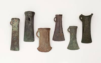 Examples Of Late Bronze Age Socketed Axes Poster by Paul D Stewart