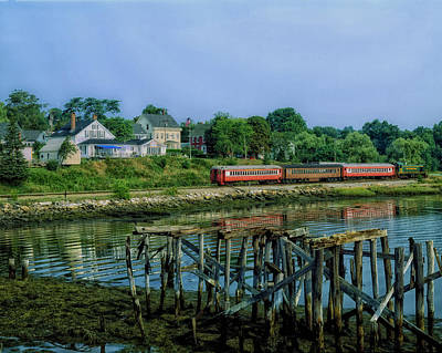 Excursion Train In Wiscasset Maine Poster by Mountain Dreams