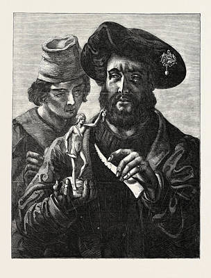 Exhibition Of The Royal Academy Benvenuto Cellini Poster by Hart, Solomon Alexander R.a. (1806-1881), British