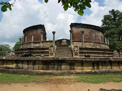 Exterior Of Polonnaruwa Vatadage Poster by Panoramic Images