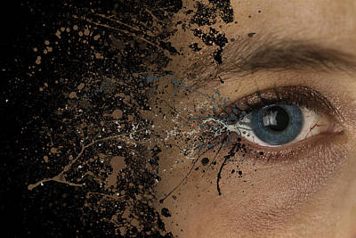 Eye Woman Abstract Explosion  Poster by Andy Gimino