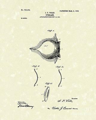 Eyeglass 1903 Patent Art Poster by Prior Art Design