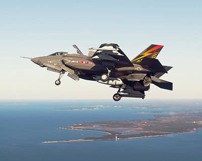 F-35b Fighter Jet Poster by Us Defense