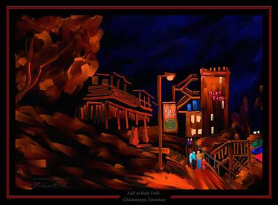 Fall At Ruby Falls - Chattanooga Landmark Series - #5 Poster by Steven Lebron Langston