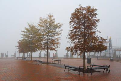 Fall Fog Poster by Jennifer Casey