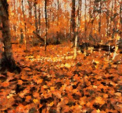 Fall Foliage Poster by Dan Sproul