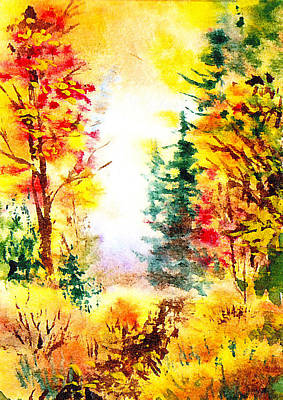 Fall Forest Poster by Irina Sztukowski
