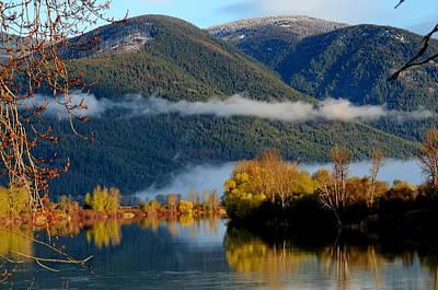 Fall On The Kootenai Poster by Annie Pflueger