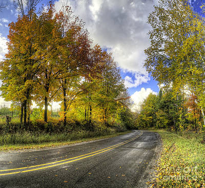 Fall Road In Northern Michigan Poster by Twenty Two North Photography