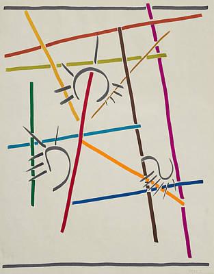 Falling Down Poster by Rick Stecz
