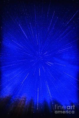 Falling Stars Poster by Thomas R Fletcher