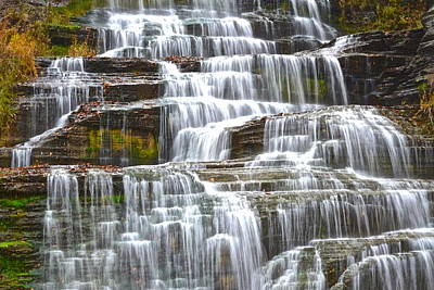Falling Water Poster by Frozen in Time Fine Art Photography