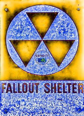 Fallout Shelter Abstract 4 Poster by Stephen Stookey