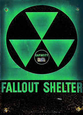 Fallout Shelter Abstract 6 Poster by Stephen Stookey