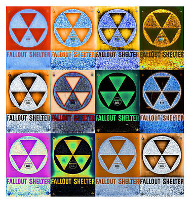 Fallout Shelter Mosaic Poster by Stephen Stookey