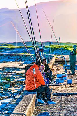 False Bay Fishing 1 Poster by Cliff C Morris Jr