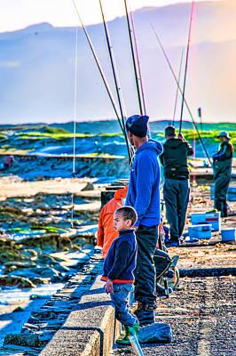 False Bay Fishing 2 Poster by Cliff C Morris Jr