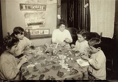 Family Doing Piece Work Poster by Science Photo Library