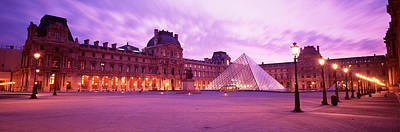 Famous Museum, Sunset, Lit Up At Night Poster by Panoramic Images