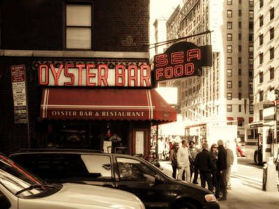Famous Oyster Bar Poster by Jon Woodhams