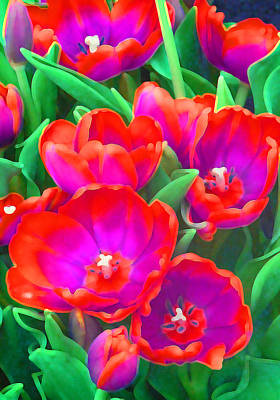 Fantasy Tulip Abstract Poster by Margaret Saheed