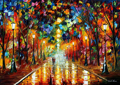 Farewell To Anger - Palette Knife Oil Painting On Canvas By Leonid Afremov Poster by Leonid Afremov