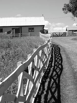 Farm And Fence Poster by Frank Romeo