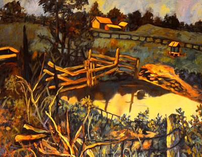 Farm Pond Reflections Poster by Kendall Kessler