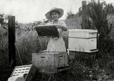 Farm Wife Beekeeper 19th Century Poster by Daniel Hagerman
