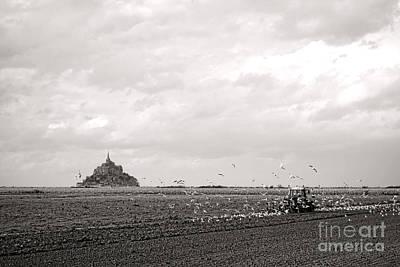 Farm Work At Mont Saint Michel Poster by Olivier Le Queinec