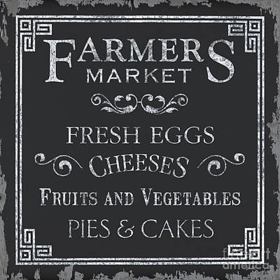 Farmers Market Poster by Debbie DeWitt