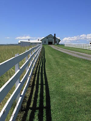Farmhouse And Fence Poster by Frank Romeo