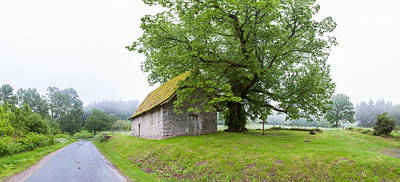 Farmhouse In A Field, Chapelle Du Mas Poster by Panoramic Images