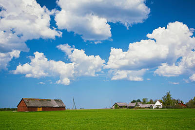 Farmhouse In A Field, Loksa, Lahemaa Poster by Panoramic Images