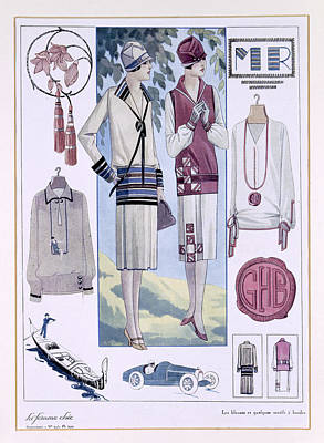 Fashion Plate, From La Femme Chic Poster by French School