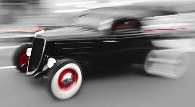 Fast Ford Hot Rod Poster by Phil 'motography' Clark