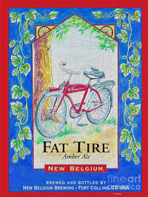 Fat Tire Poster by Cheryl Young