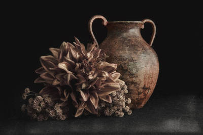 Faux Flower Still Life Poster by Tom Mc Nemar